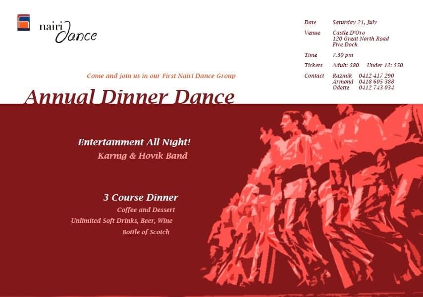 Nairi Dance Group Annual Dinner Dance