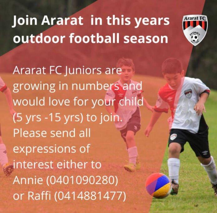 Join Ararat Outdoor Football Season